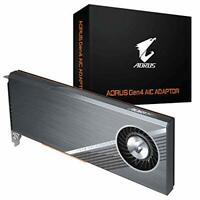 Gigabyte GC-4XM2G4 AORUS Gen4 AIC Adaptor Full PCIe 4.0 Advanced Thermal Solu...