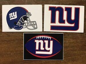 New York Giants NFL 3 Pack Sticker Lot Helmet, Oval Logo, Logo