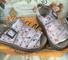 Ladies Dr Martens 8330 Pink Floral Leather Chunky Sandals Size 8/42 Brand New