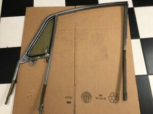 1965-1967 Porsche 911 coupe  Right Door glass and vent frame with movable vent