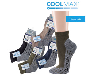 COOLMAX 3 Paar Trekking Kurzschaft Socken Wandersocken Sportsocke  Klimakomfort