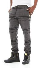 NWT Rich Gang Men's Tribal Gold Zipper French Terry Jogger Pant Size Medium M c3