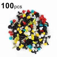 100pcs/set Universal Mixed Car Various Plastic Rivet Fastener Door Push Pin WG