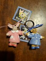 Lot Of 2 New Old Stock Muffy Stuff Adorable Collectible Keychains