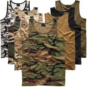 US Army Tanktop Unterhemd Uni und Tarn BW Achselshirt Tank Top Camo