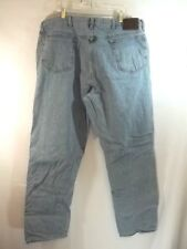Work N Sport Flannel Lined Jeans 40 x 31.5 Light wash Straight Leg