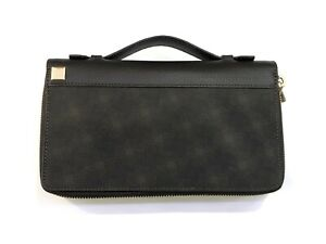 Dunhill London classic genuine leather long wallet handbag with zipper