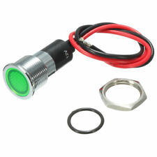 12V DC GREEN WATERPROOF PILOT LIGHT FOR 14mm HOLE CAR VAN BOAT INDICATOR LAMP