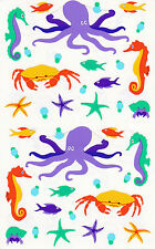 Mrs. Grossman's Giant Stickers - Sea Creatures - Octopus, Seahorse - 2 Strips