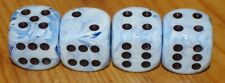 DUDDS DICE BLUE SWIRL w/BLACK DOTS VALVE STEM CAPS (4 PACK) #10