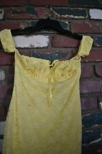 Celebrity Fashion Hera mini sexy party dress yellow lace of the shoulder size S