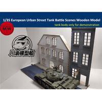 1/35 European Urban Street Scenes Diorama DIY Wooden Assembly Model Kit