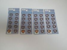 "Jewelry Fundamentals 1/2"" Heart Bead Frames -Copper Toned - 4 Packages"