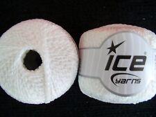 Zig Zag yarn/crochet thread, white, 2 balls (165 yds each)