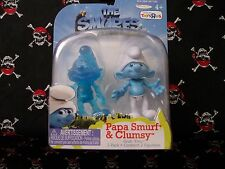 2011 The Smurfs Escape from Gargamel Papa Smurf & Clumsy Grab 'Ems 2 pack