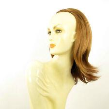 Demi-tête, demi-perruque lisse 40cm blond foncé cuivré ref 018 en g27