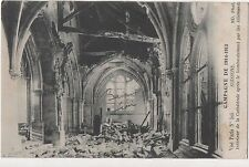 POSTCARD  MILITARY WWI   SOISSONS  After Bombing