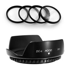 52mm Lens Hood Flower Wide Petal,Macro Filter Kit for Nikon D7000 D300 D3200 D90
