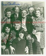 MAUDE CAST SIGNED AUTOGRAPHED 8x10 RP PHOTO BY ALL 5 BEA ARTHUR RUE McCLANAHAN