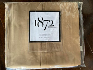"""1872 Bloomingdale's Pascale Bedskirt King 18"""" Drop 400 Thread Pima Cotton $245"""