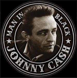 Johnny Cash Man In Black Round Metal Sign  300mm diameter  (de)