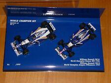 1/43 Minichamps World Champion Set 5 Williams FW18 FW19 1996/97 Hill Villeneuve