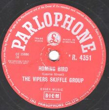 RARE VIPERS SKIFFLE 78 PAY ME MY MONEY DOWN / HOMING BIRD UK PARLOPHON R4351 EX-