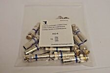 RG-6 Compression BNC Connectors - Bag of 14 - New