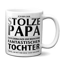 STOLZER PAPA einer fantastischen Tochter Kaffeetasse Geschenk Vatertag Weihnacht