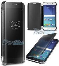 Coque Housse Etui Flip Clear View Transparent pour Samsung Galaxy S8 / S8 Plus S8 Noir
