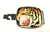 Tiger Cat Animal Head Original Genuine Leather Belt Buckle for Men/Women