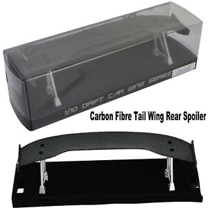 Carbon Fibre Tail Wing Rear Spoiler for 1/10 RC Drift Car On-Road Racing Truck