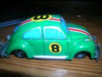 VINTAGE TIN LITHO  VW BUG   FRICTION CAR # 8   Race Car Japan NDOH
