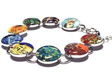 Vincent Van Gogh Fine Art Bracelet, Tardis, A Starry Night, Almond Blossoms