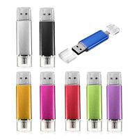 2X(32GB USB Stick 2.0 OTG Mikro USB Flash Drive fuer Handy PC Gruen W4H6)