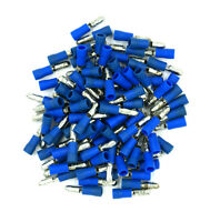 """100 Pack 16-14 Gauge Blue Male Bullet Connectors .157"""" - SHIPS FREE TODAY!"""