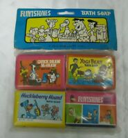 NEW VINTAGE 1976 FLINTSTONES YOGI BEAR QUICK DRAW McGRAW BATH BAR SOAPS SEALED