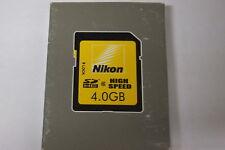 Nikon original 4GB SDHC Speicherkarte High Speed