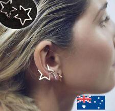 Star Earrings EMO Punk Rock Dangle Stud Hoop Drop Gold Earings Women's
