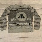Official PLAYSTATION Mens Large Pullover Ugly Christmas Sweater Sweatshirt
