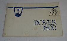 Istruzioni D'Uso / Manuale Rover 3500 SD1 Tedesco Stand 1977