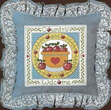 Paragon Collection Counted Cross Stitch Pillow Kit Country Welcome 2151 Complete