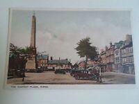 Vintage Colour Postcard THE MARKET PLACE RIPON, North Yorkshire Unposted