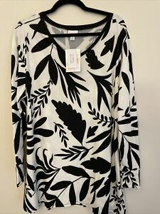 lularoe elizabeth xl brand new with tags black and white
