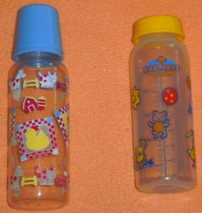 2 Babyfläschchen, versch. Marken/Größen, Kunststoff, ohne Sauger, gebraucht