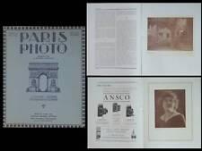 PARIS PHOTO 1922 PHOTOGRAPHY MAGAZINE,PICTORIALISM, ALEXANDER KEIGHLEY,