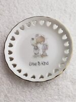 1985 Precious Moments Love Is Kind Plate Dish by ENESCO Vintage Japan  VGC