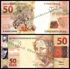 Brasil 50 Reais Banknote Leopard 2010 (UNC) 全新 巴西50里亚尔 纸钞
