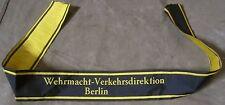 WWII GERMAN HEER TUNIC SLEEVE BEVO CUFF TITLE-Deutsche Verkehrsdirektion Berlin