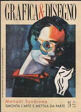 GRAFICA & DISEGNO 24 ikon 1998 lorenzo mattotti syndrome e cucco/bianco casalini
